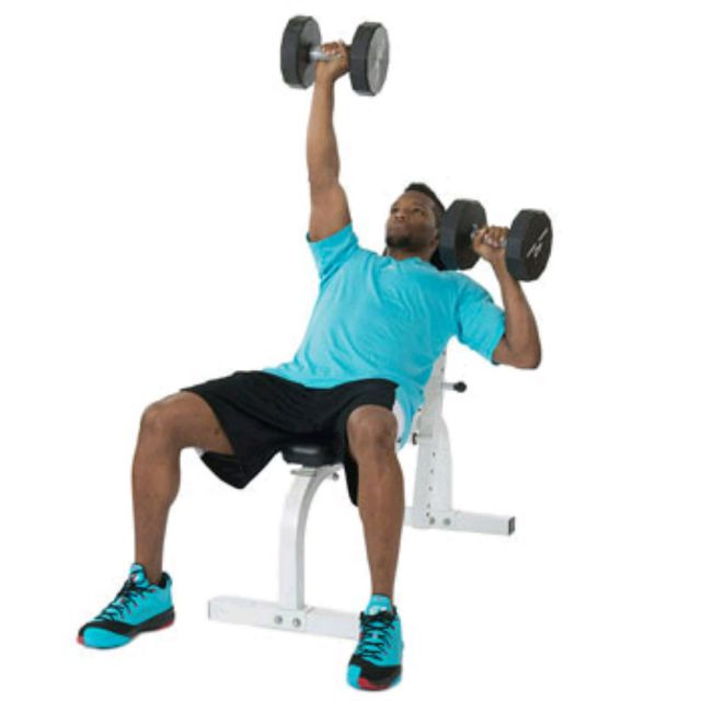 How to do: Alternating Incline Dumbbell Bench Press - Step 1