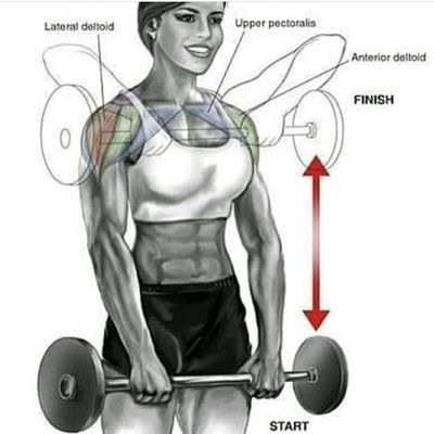 Straight Bar Upright Rows