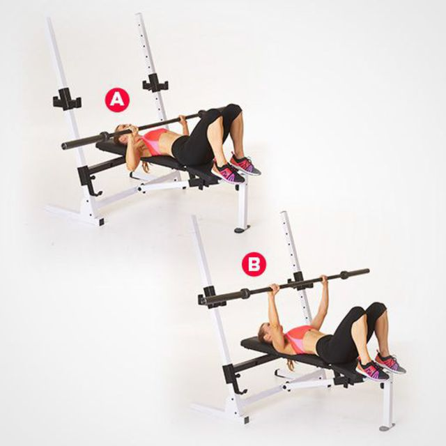 Bench Press Women S Mag Exercise How To Workout Trainer By Skimble