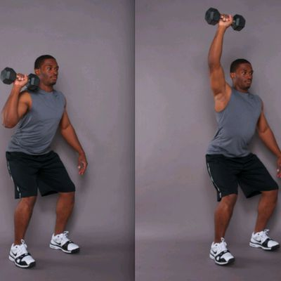 Single Arm Dumbbell Push Press