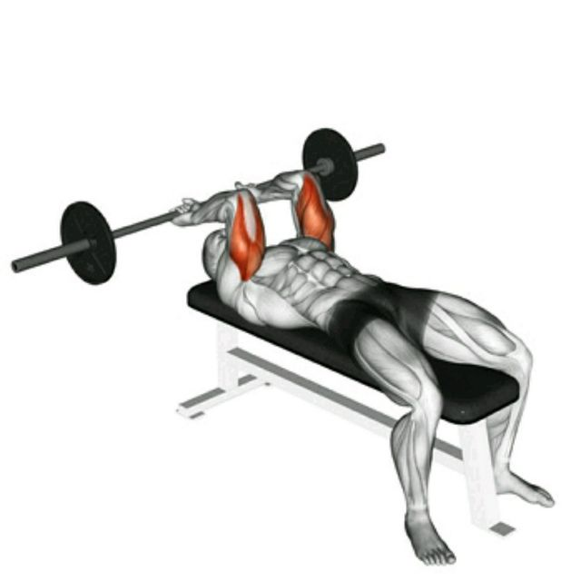 How to do: Barbell Tricep Extensions - Step 1