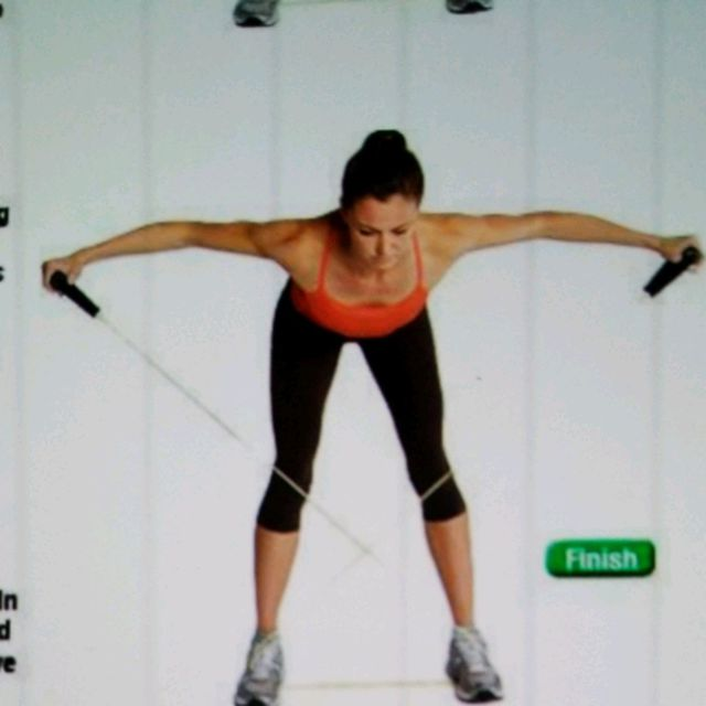 Bent Over Fly Reverse W Tubing Exercise How To Workout