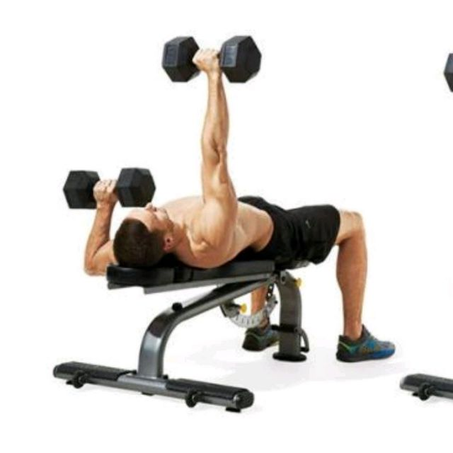 Alternating Dumbbell Bench Press Exercise How To Workout Trainer