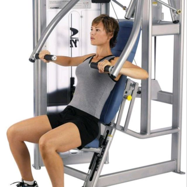 Chest Press Machine Exercise How To Workout Trainer By