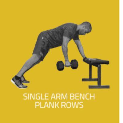 Single Arm Plank Row
