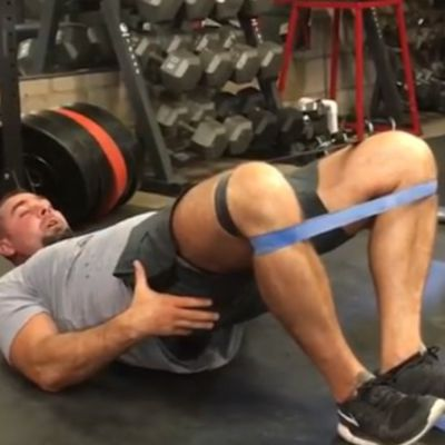 Band Glute Bridge [3 Sec Pause]