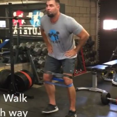 Banded Lateral Walk  [20 Steps Each Way]