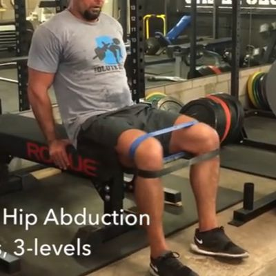 Banded Hip Abduction Level 1 [Lean Slightly Back]