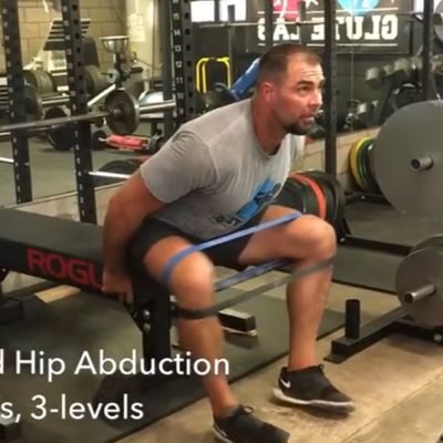 Banded Hip Abduction Level 3 [Lean Forward]