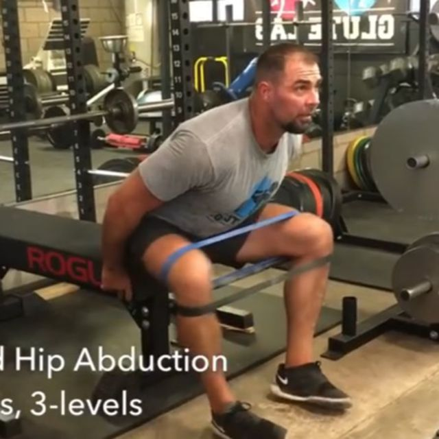 How to do: Banded Hip Abduction Level 3 [Lean Forward] - Step 1