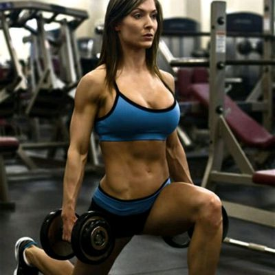 Dumbbell Lunges.