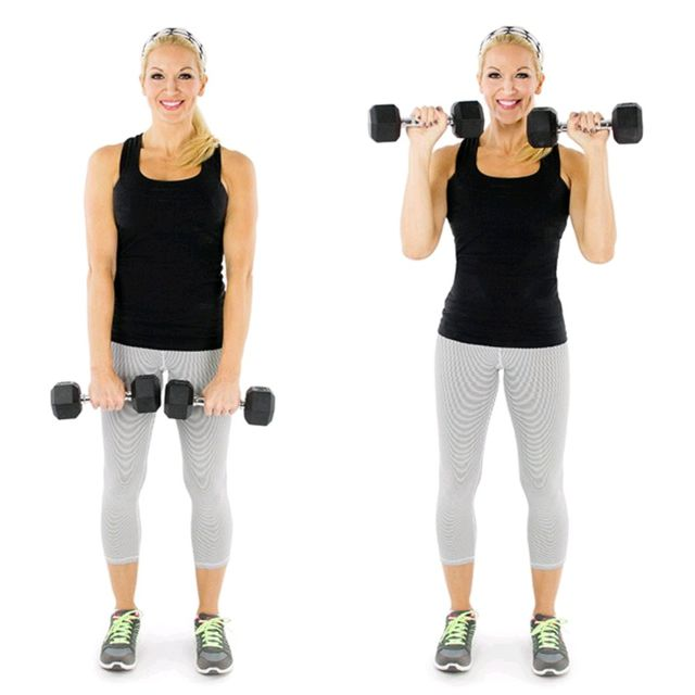 Standing Reverse Bicep Curl - Exercise How-to - Workout Trainer by ...