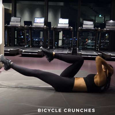 Slow Bicycle Crunches