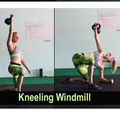 Kneeling Windmill