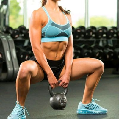 Dumbbell Squats Steps