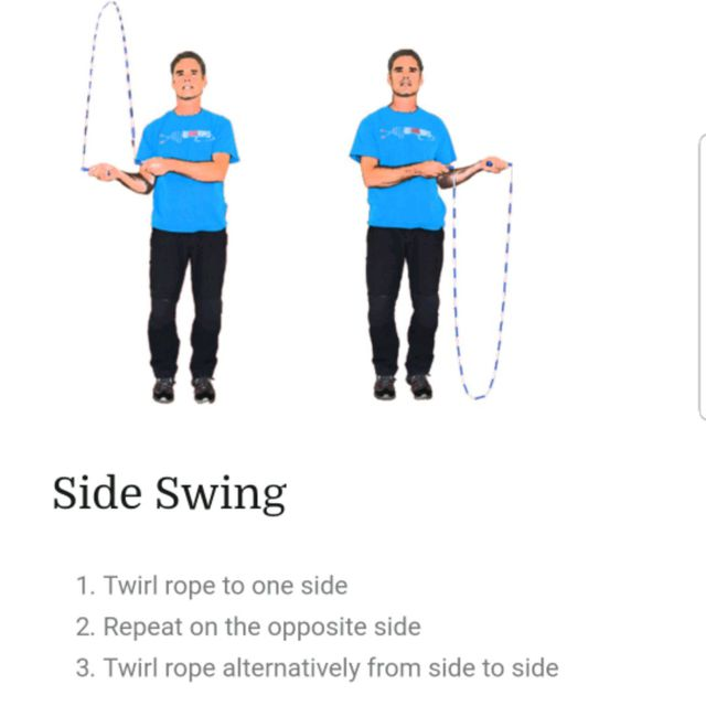 Jump rope side swing  - Exercise How-to - Workout Trainer by Skimble