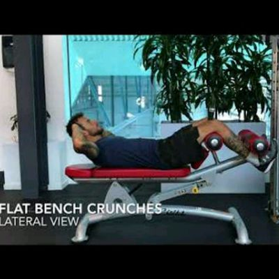 Bench crunches - flat