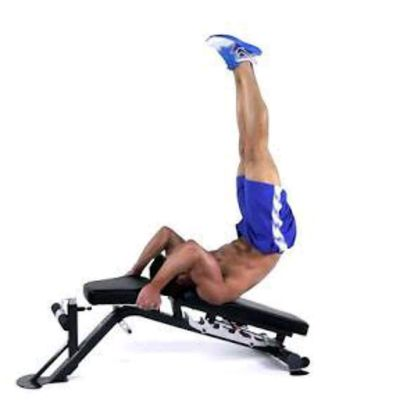 Bench crunches - reversed declined