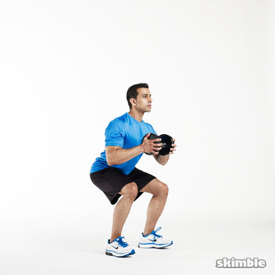 8 Horizontal Goblet Squats