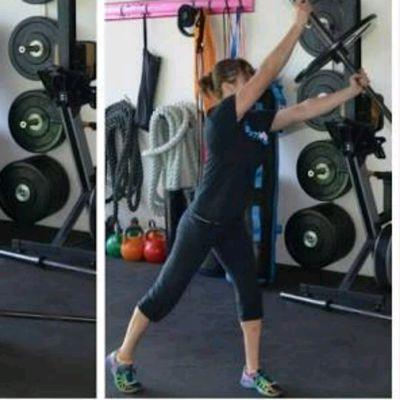 Angled Barbell Deadlift To Press (Left)