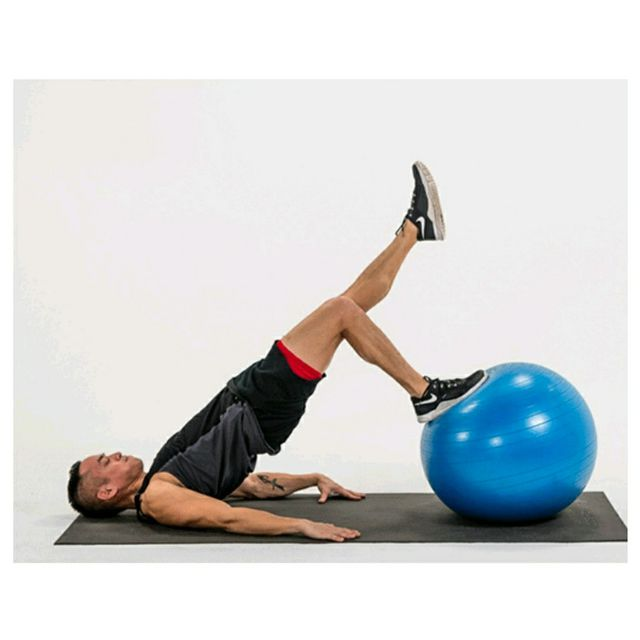 Single Leg Stability Ball Hip Thrust - Exercise How-to ...