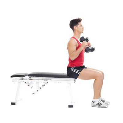 Biceps - Dumbbell Biceps Curl Seated (Hammer Grip)