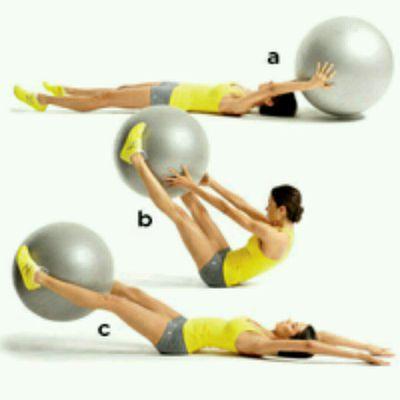 Stability Ball V-Pass