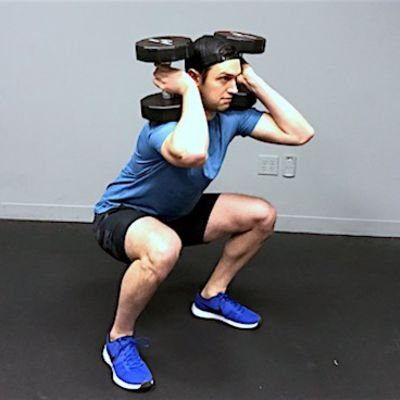 Single Dumbbell Sumo Squats - Exercise How-to - Workout