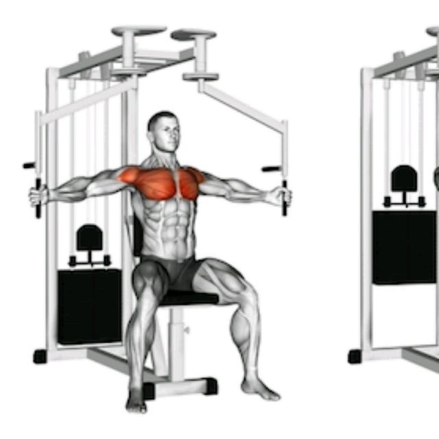 Machine Pec Fly Exercise How To Workout Trainer By Skimble