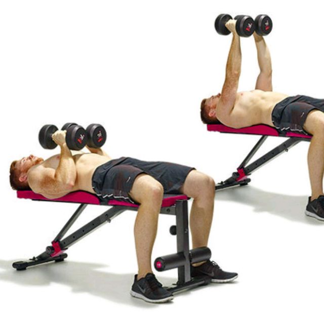 Single Arm Dumbell Bench Press: Close Grip Dumbbell Press