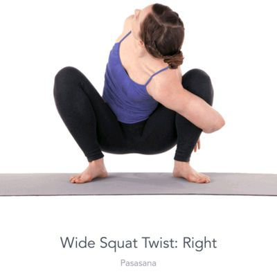 Right Twisted Wide Squat