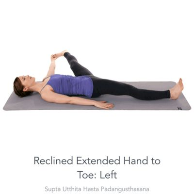 Left extended Hand To Toe