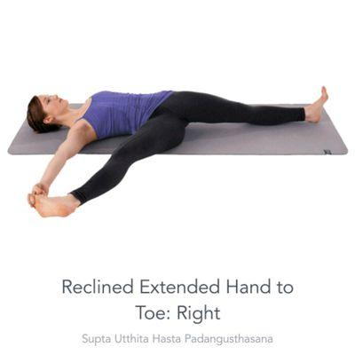 Right extended Hand To Toe