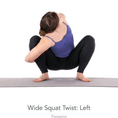 Left Twisted Wide Squat