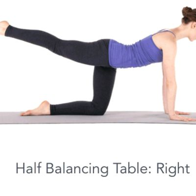 Half balancing table Right