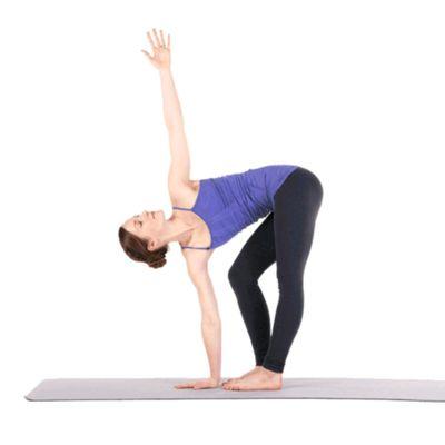 Standing Forward Bend Twist Left