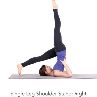 Single Leg Shoulderstand Right