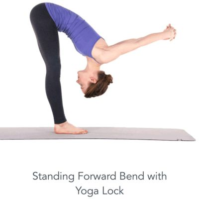 Standing Forward Bend With Yoga lock