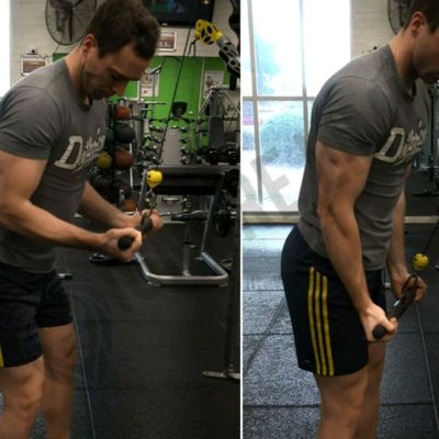 Reverse Grip Tricep Pull Down- Double Drop