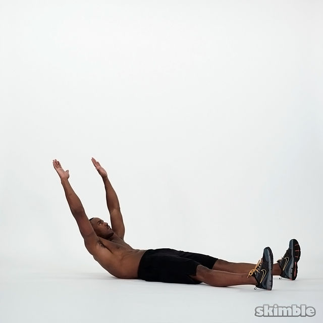 How to do: Overhead Crunches - Step 3