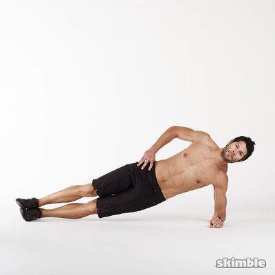 Side Plank Dips Right Side