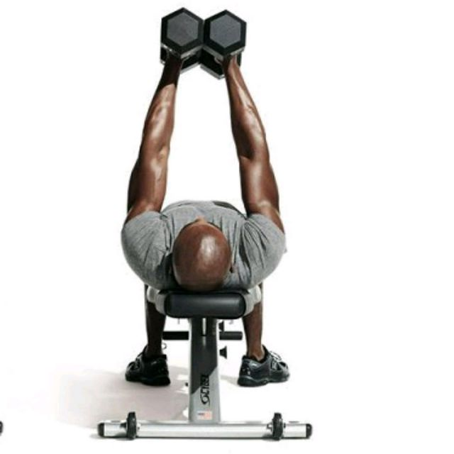 Dumbbell Squeeze Press Exercise How To Workout Trainer