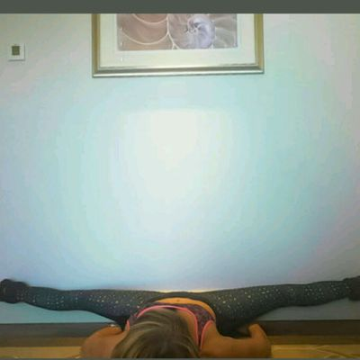 Wide Leg Wall Lying Stretch