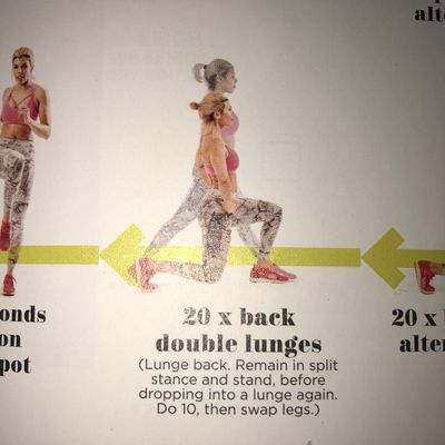 Double Back Lunge