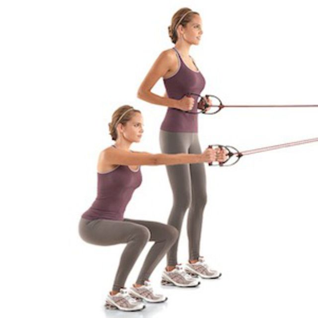 Cable Front Squat Exercise How To Workout Trainer By Skimble