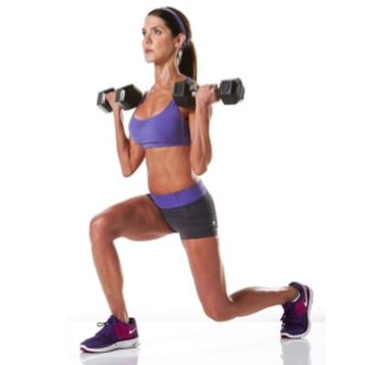 Reverse Lunge With Bicep Curl