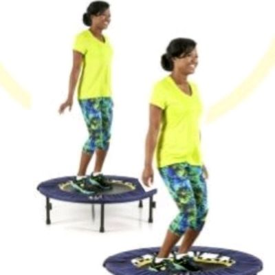 Healthy bounce on rebounder