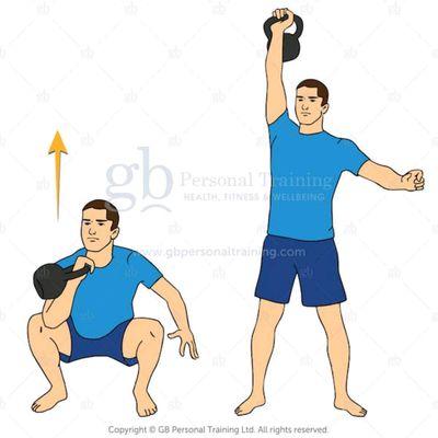 Squat And Press a 1 Mano