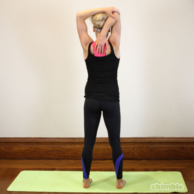 How to do: Right Tricep Stretch - Step 2