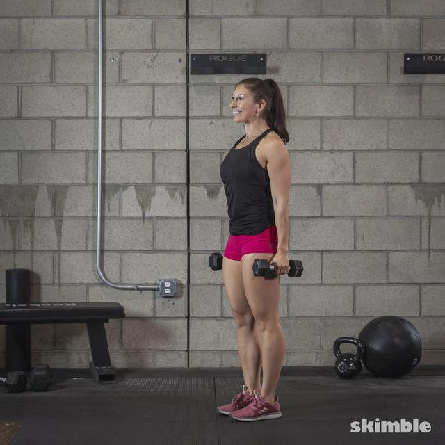 How to do: Dumbbell Single Leg Seesaws - Step 21